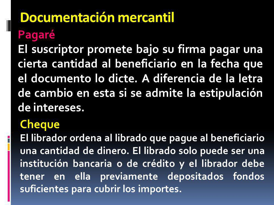 Documentación mercantil