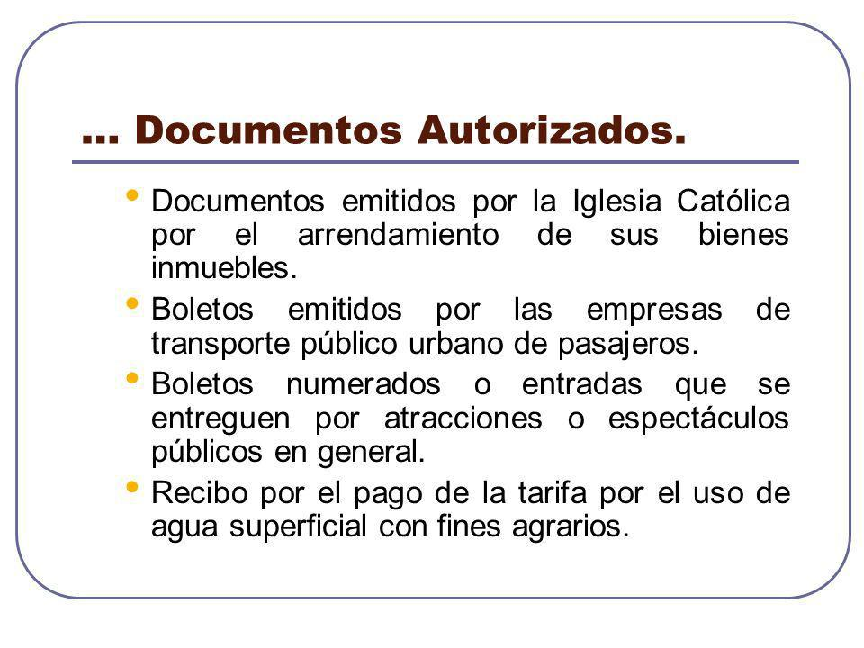 … Documentos Autorizados.