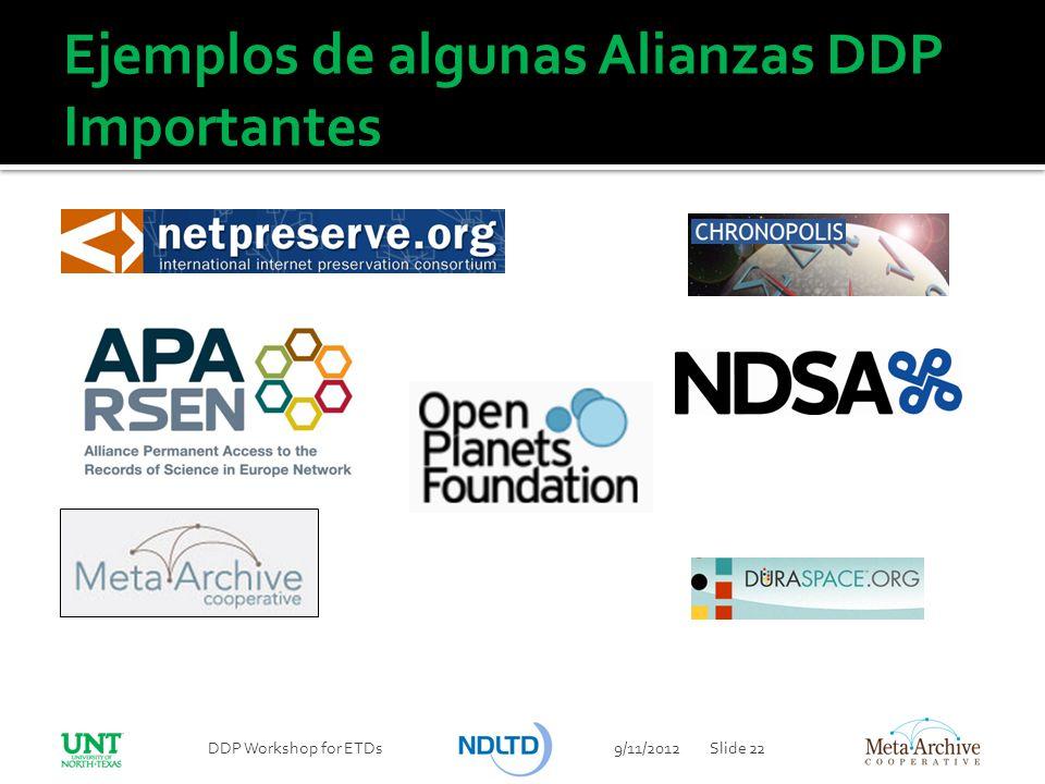 Ejemplos de algunas Alianzas DDP Importantes