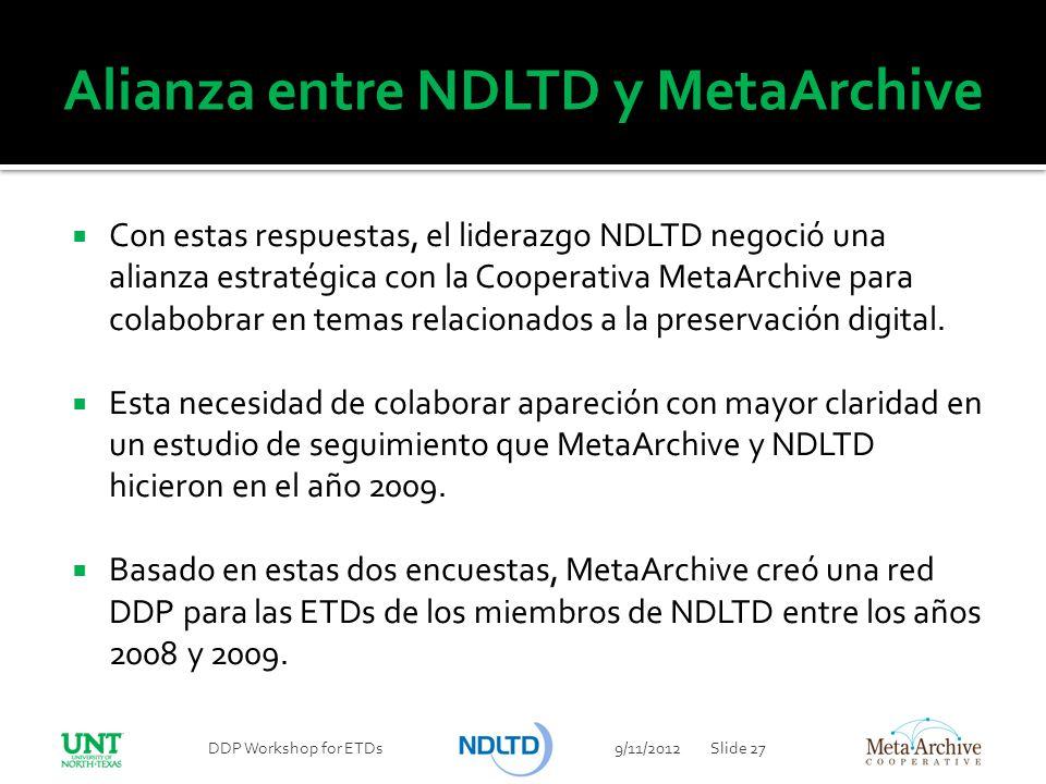 Alianza entre NDLTD y MetaArchive