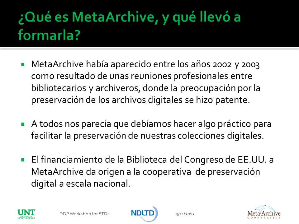 ¿Qué es MetaArchive, y qué llevó a formarla
