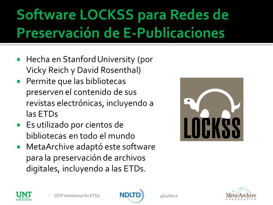 Software LOCKSS para Redes de Preservación de E-Publicaciones