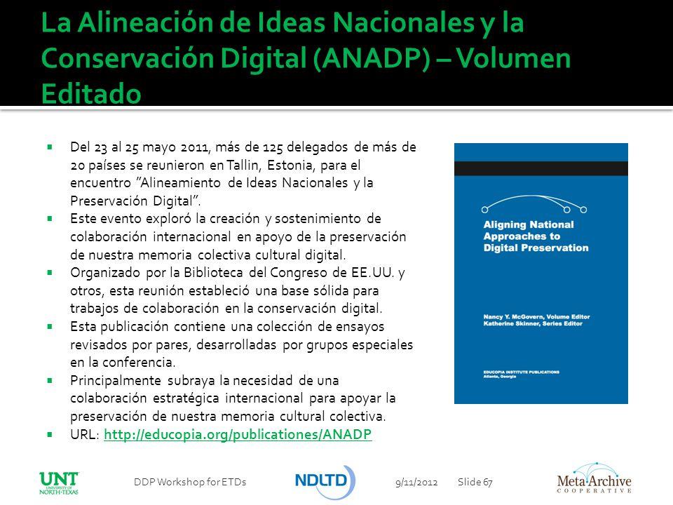 La Alineación de Ideas Nacionales y la Conservación Digital (ANADP) – Volumen Editado
