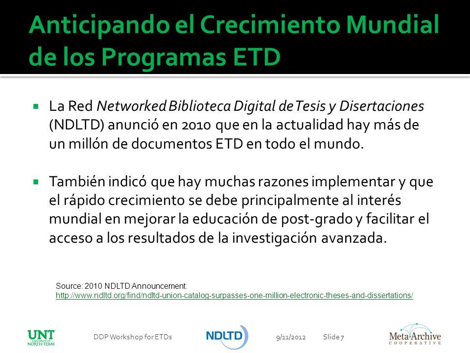 Anticipando el Crecimiento Mundial de los Programas ETD