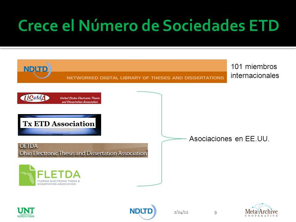 Crece el Número de Sociedades ETD