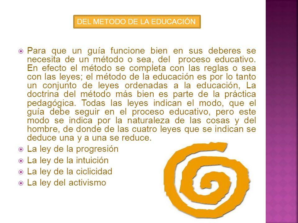 DEL METODO DE LA EDUCACIÓN