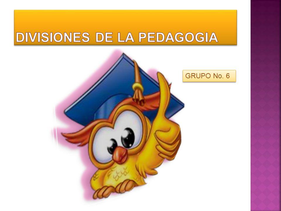 DIVISIONES DE LA PEDAGOGIA