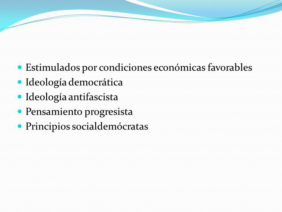 Estimulados por condiciones económicas favorables