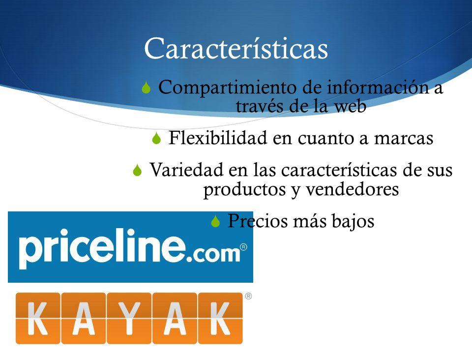 Características Compartimiento de información a través de la web
