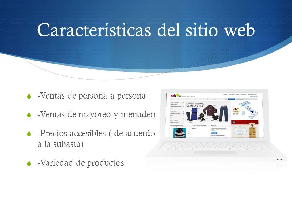 Características del sitio web