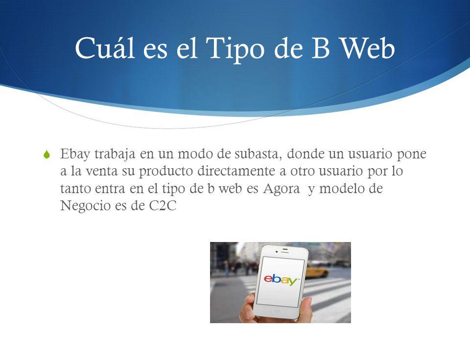Cuál es el Tipo de B Web