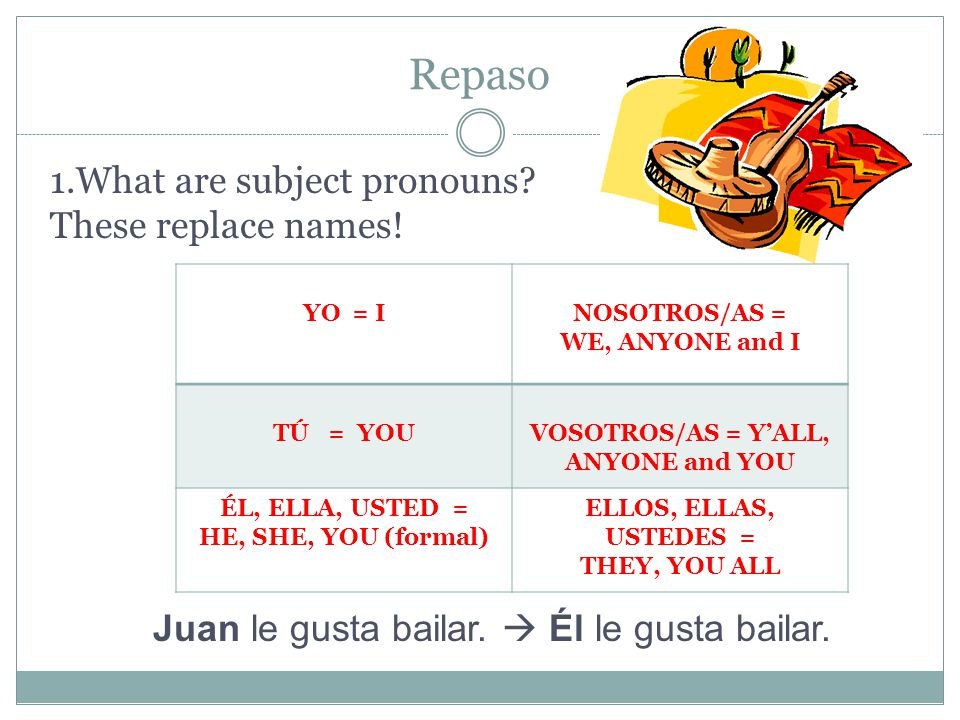 VOSOTROS/AS = Y'ALL, ANYONE and YOU
