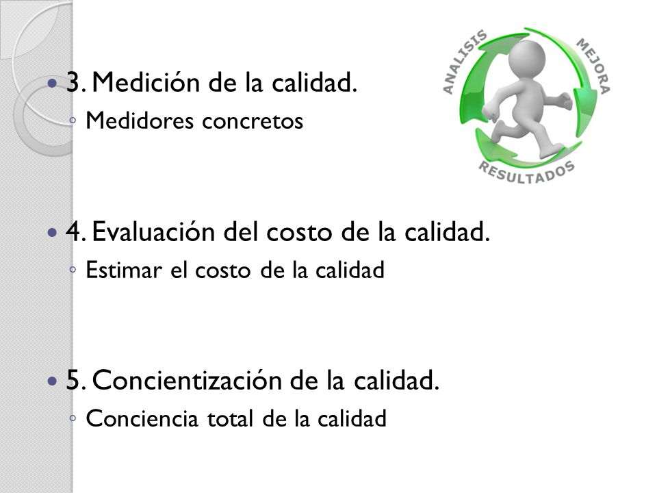 4. Evaluación del costo de la calidad.