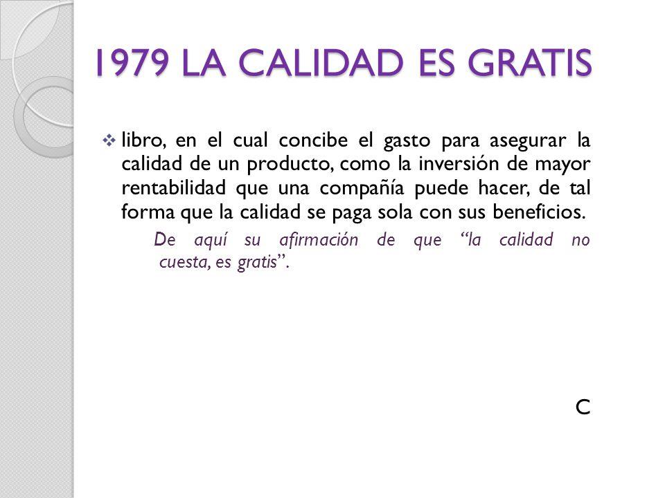 1979 LA CALIDAD ES GRATIS