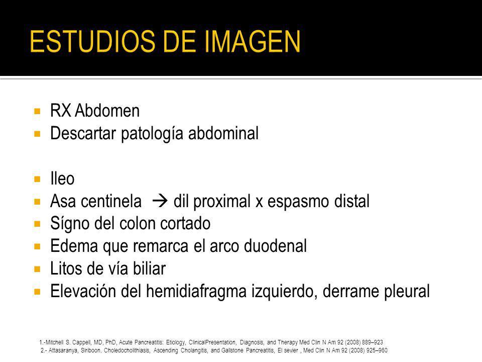 ESTUDIOS DE IMAGEN RX Abdomen Descartar patología abdominal Ileo