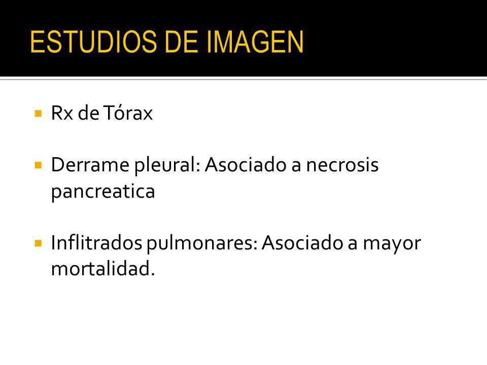 ESTUDIOS DE IMAGEN Rx de Tórax