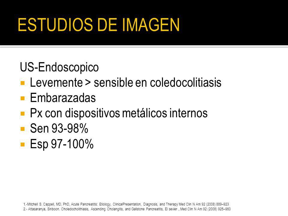 ESTUDIOS DE IMAGEN US-Endoscopico