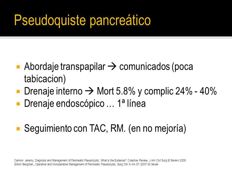 Pseudoquiste pancreático