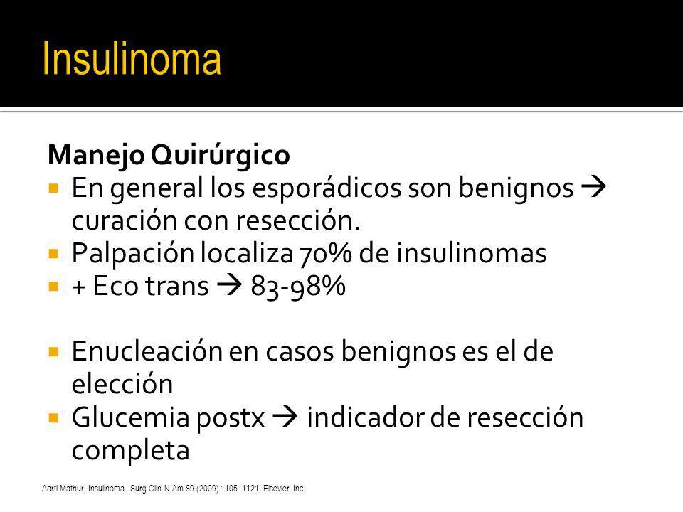 Insulinoma Manejo Quirúrgico