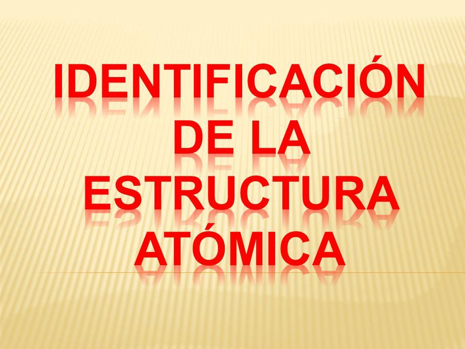 IDENTIFICACIÓN DE LA ESTRUCTURA ATÓMICA