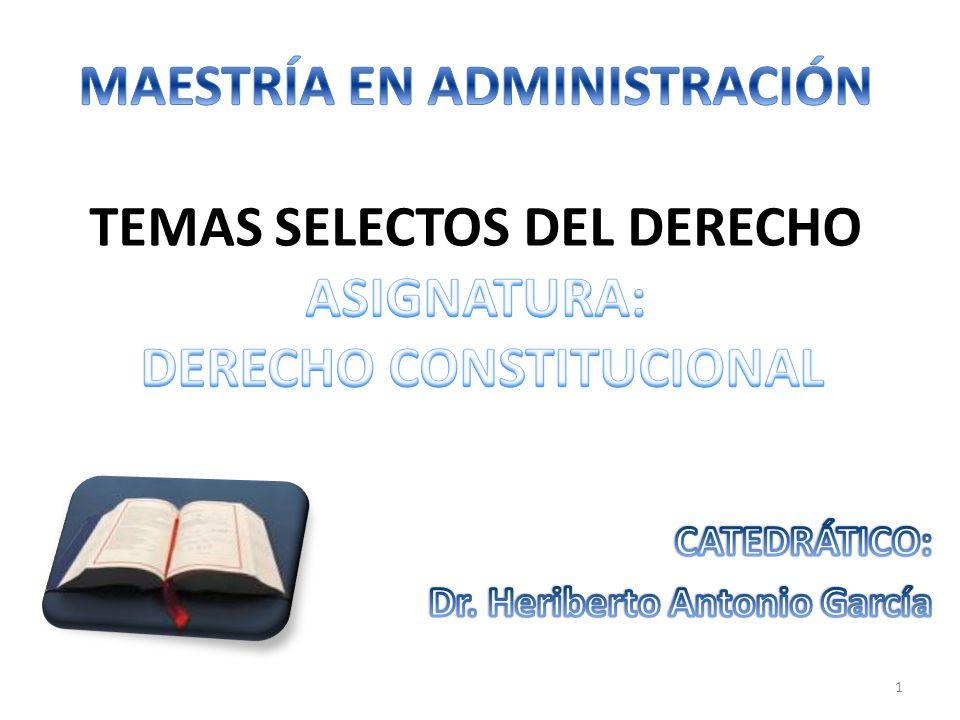CATEDRÁTICO: Dr. Heriberto Antonio García