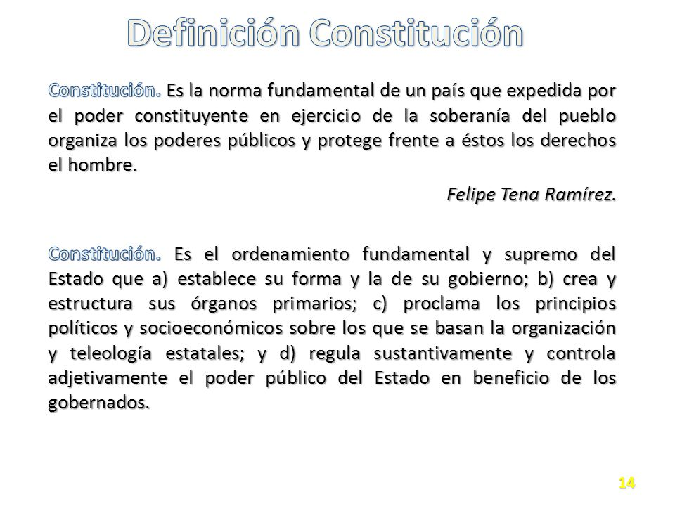 Definición Constitución