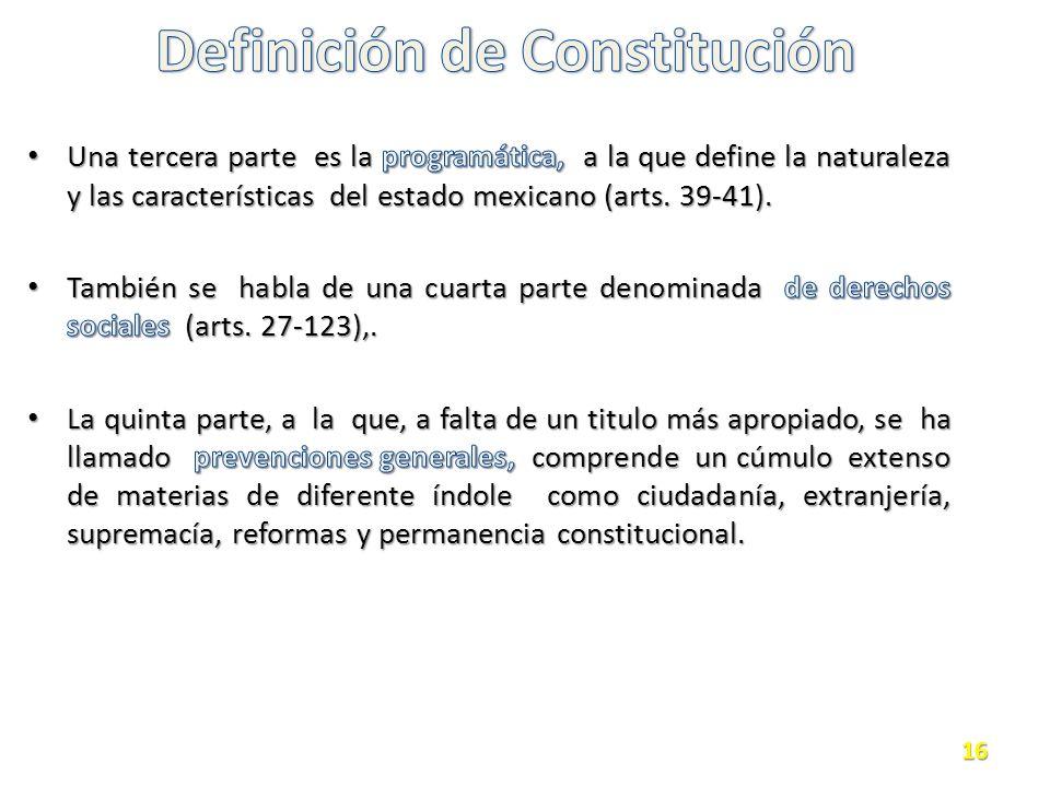 Definición de Constitución