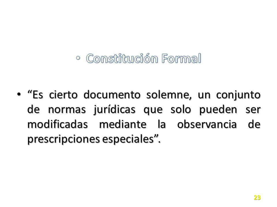 Constitución Formal