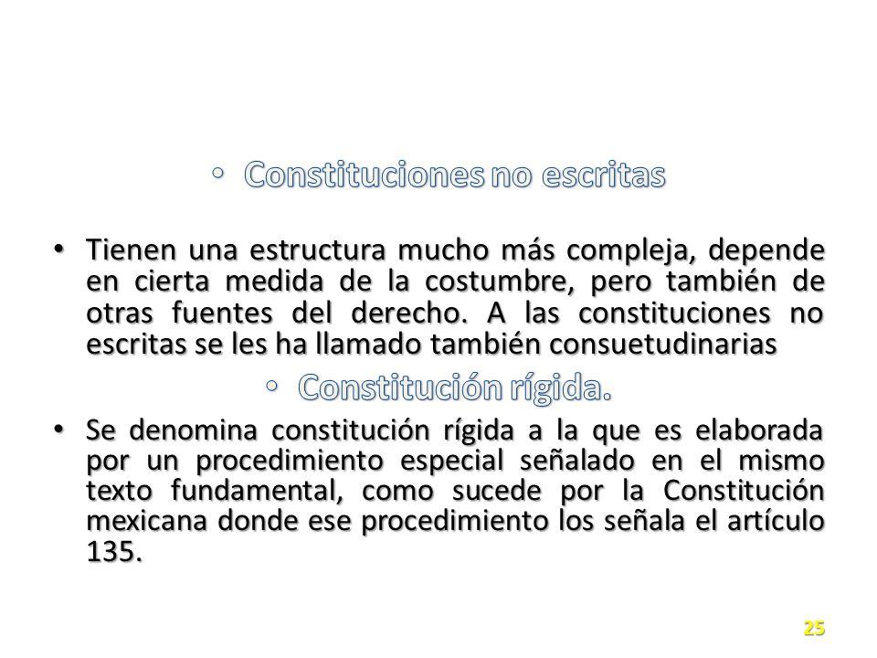 Constituciones no escritas