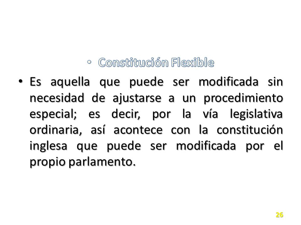 Constitución Flexible