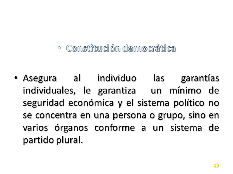Constitución democrática