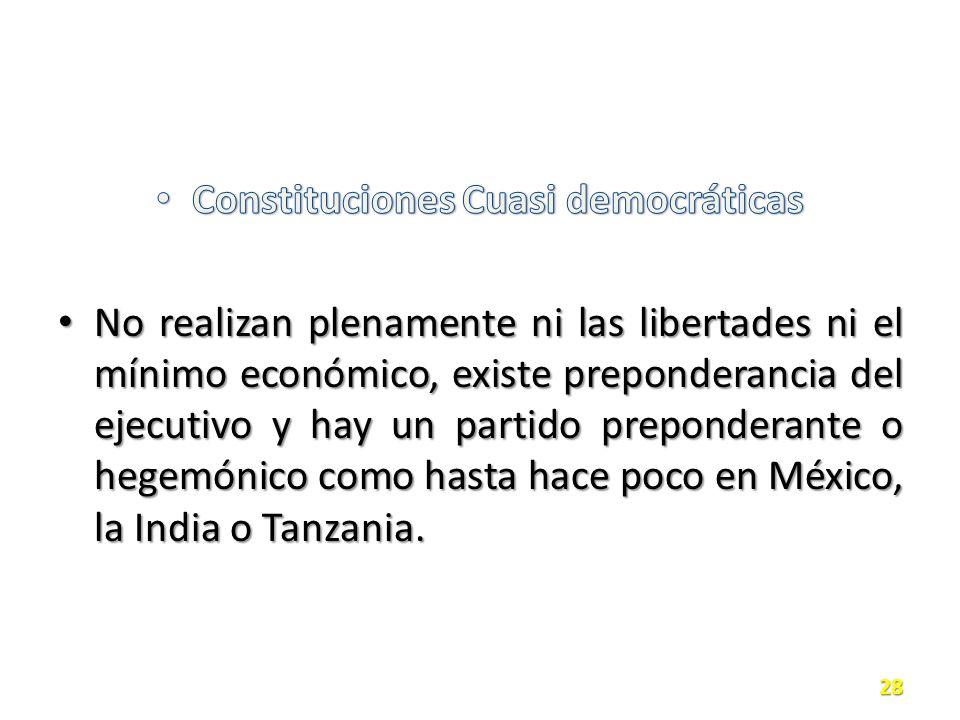 Constituciones Cuasi democráticas
