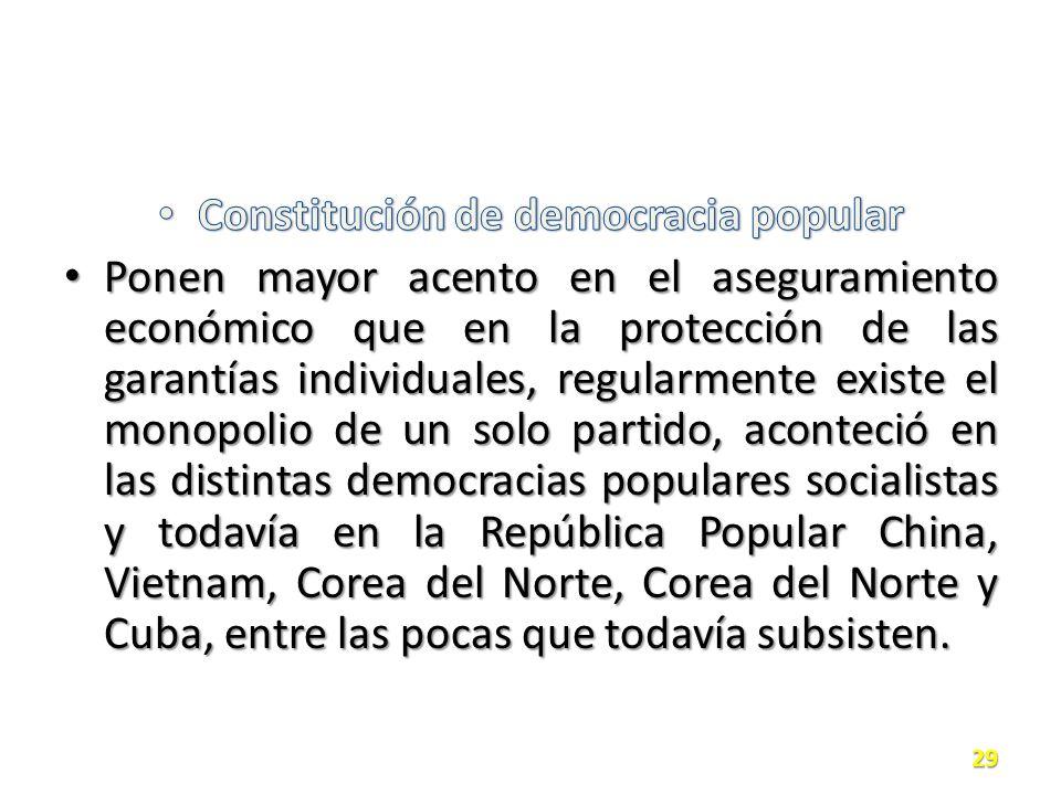 Constitución de democracia popular