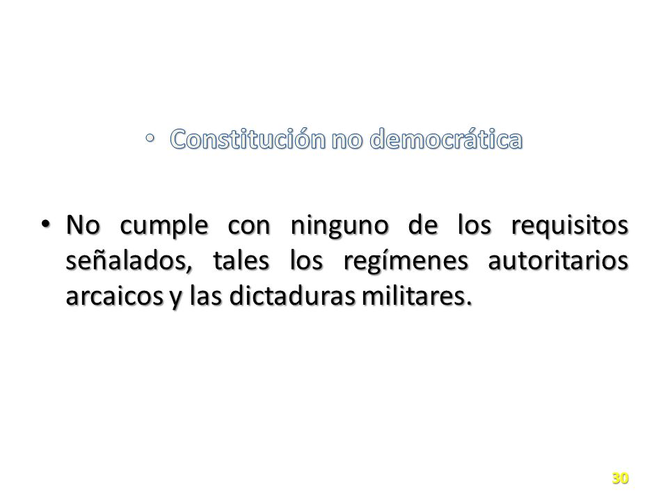 Constitución no democrática