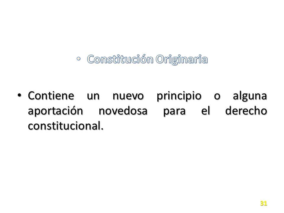 Constitución Originaria