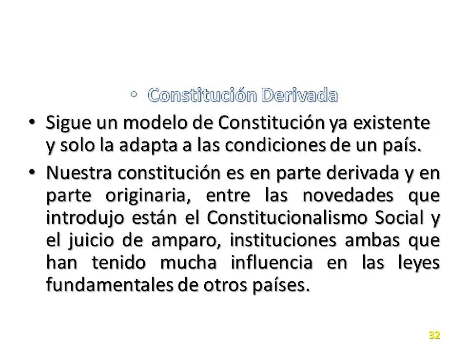 Constitución Derivada