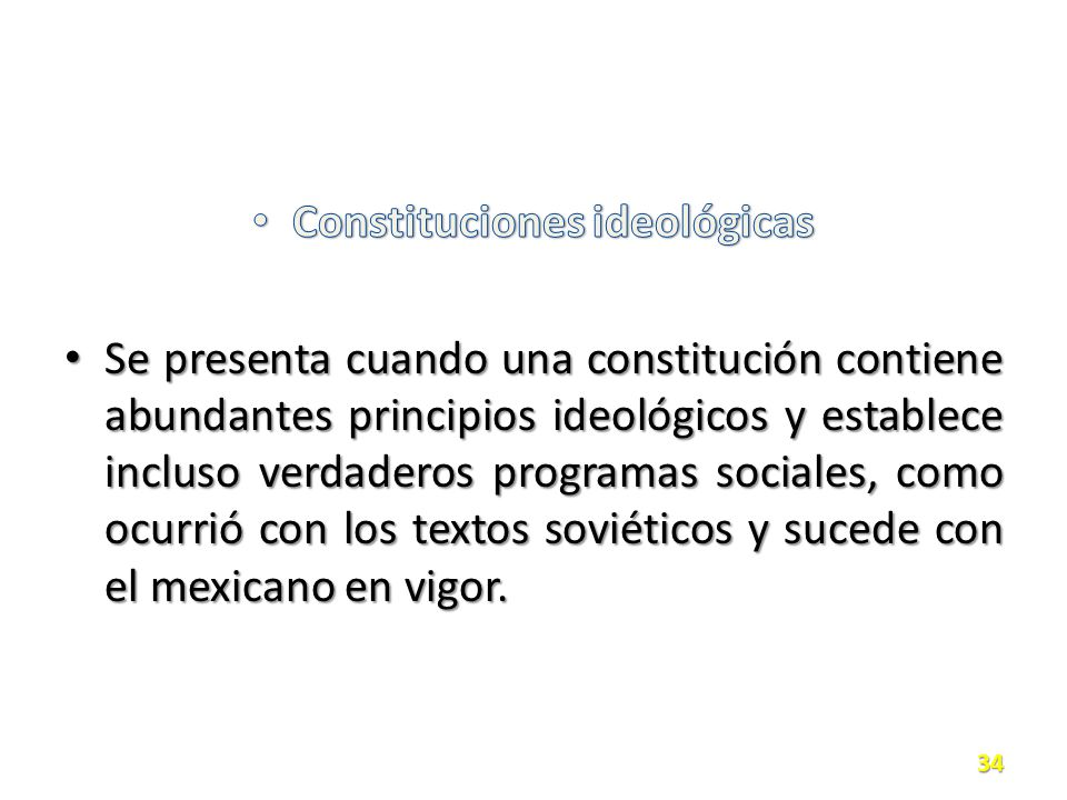 Constituciones ideológicas