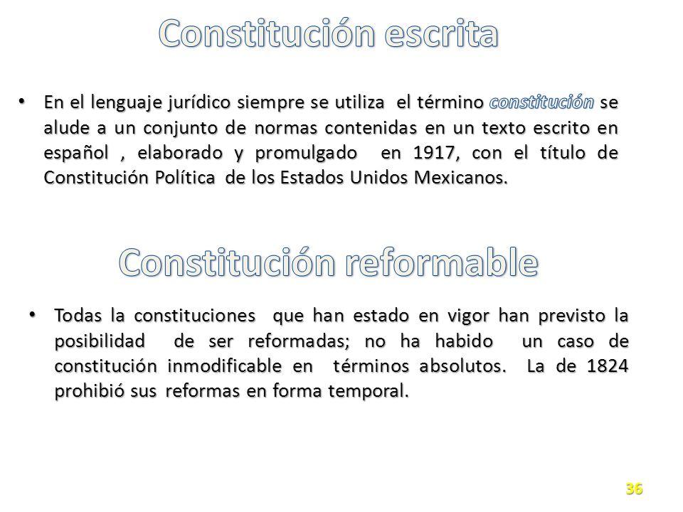 Constitución reformable