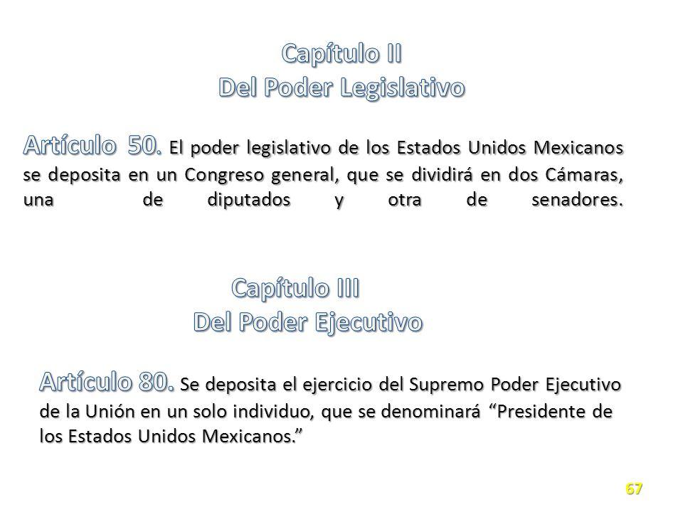 Capítulo II Del Poder Legislativo.