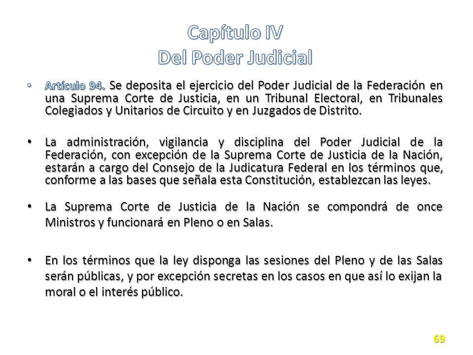 Capítulo IV Del Poder Judicial