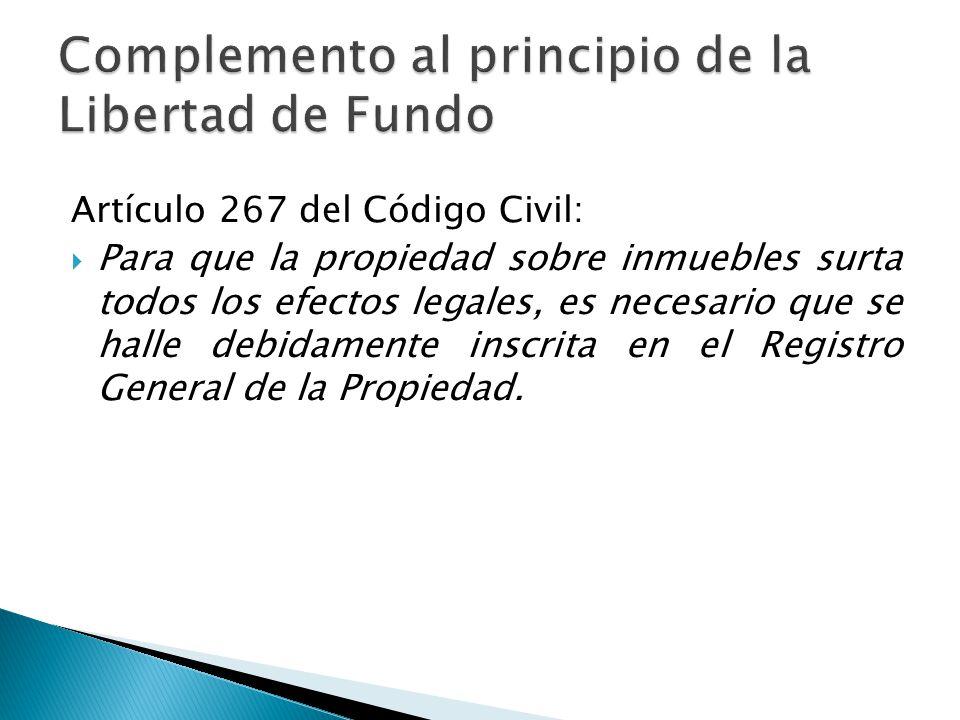 Complemento al principio de la Libertad de Fundo