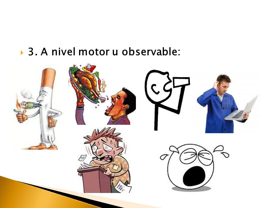 3. A nivel motor u observable:
