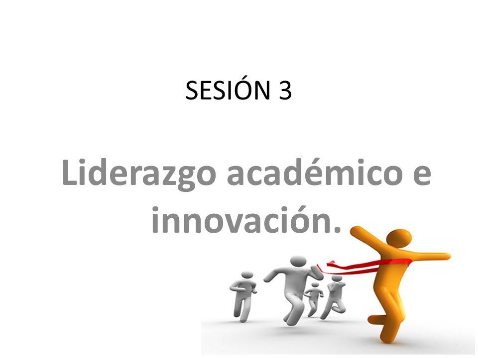 Liderazgo académico e innovación.