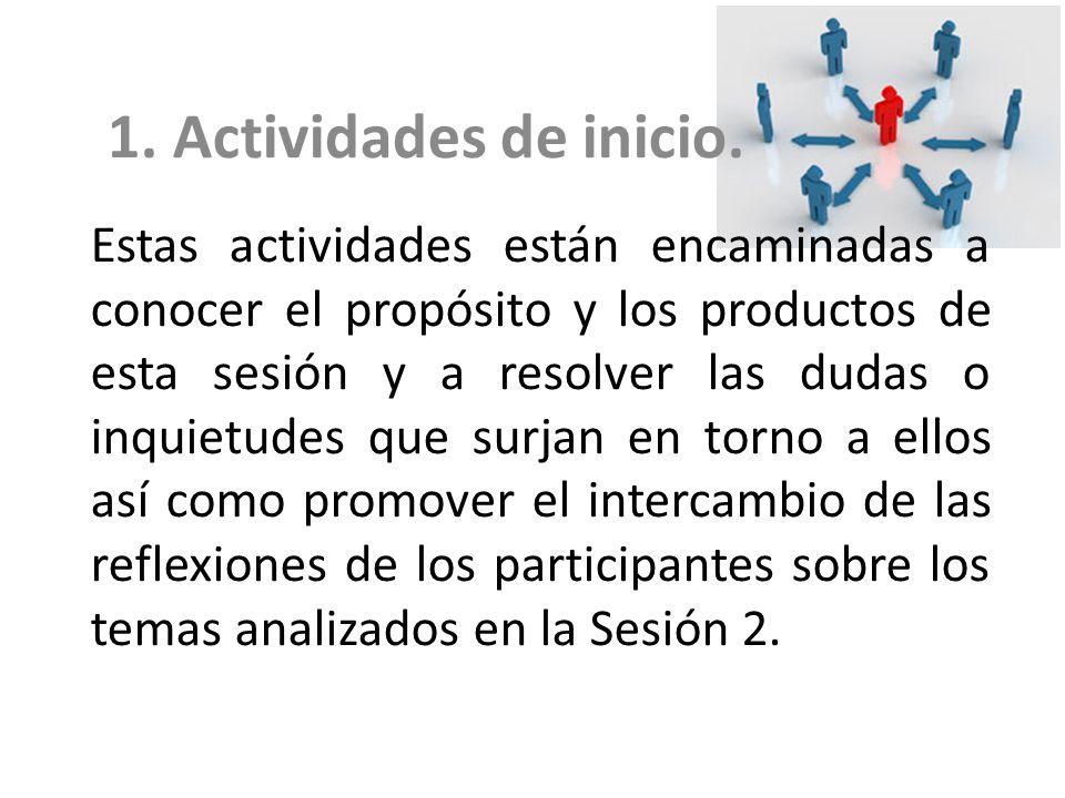1. Actividades de inicio.