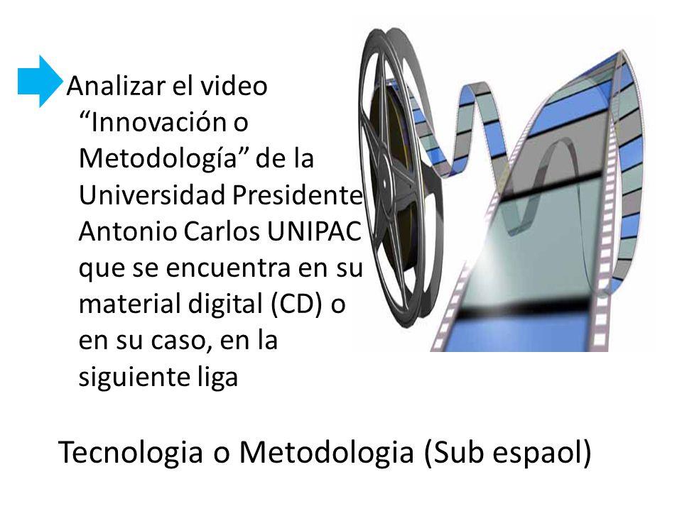 Tecnologia o Metodologia (Sub espaol)