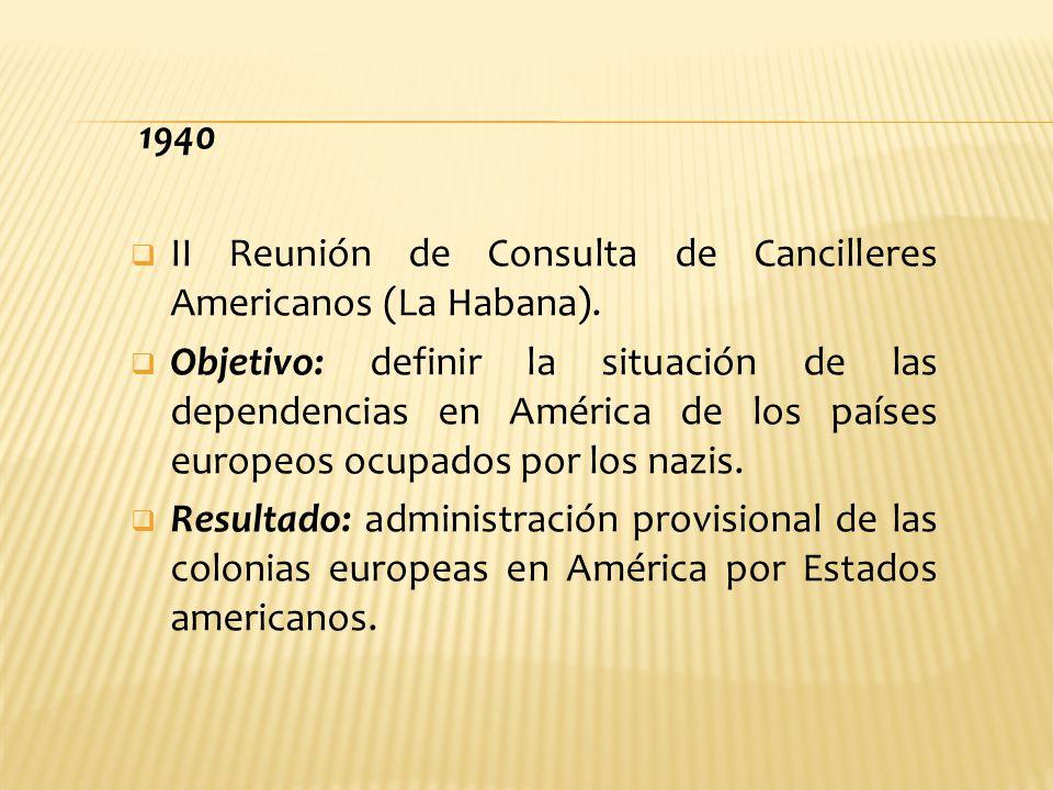 1940 II Reunión de Consulta de Cancilleres Americanos (La Habana).