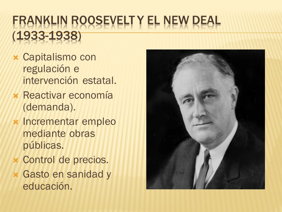 Franklin Roosevelt y el New Deal (1933-1938)