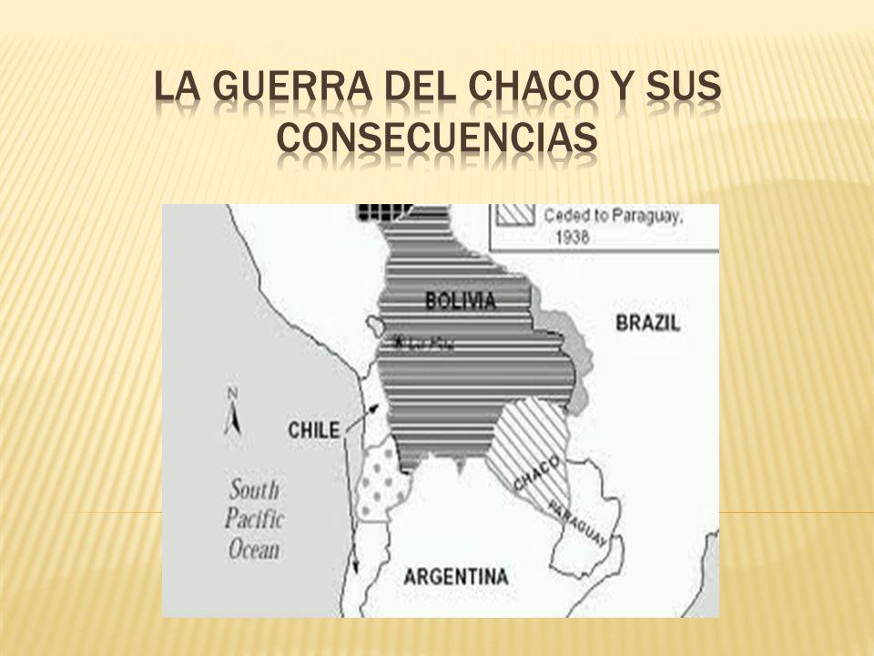 La guerra del Chaco y sus consecuencias