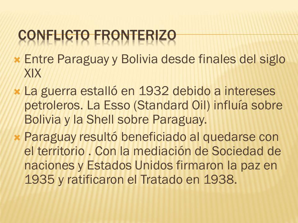 Conflicto fronterizo Entre Paraguay y Bolivia desde finales del siglo XIX.
