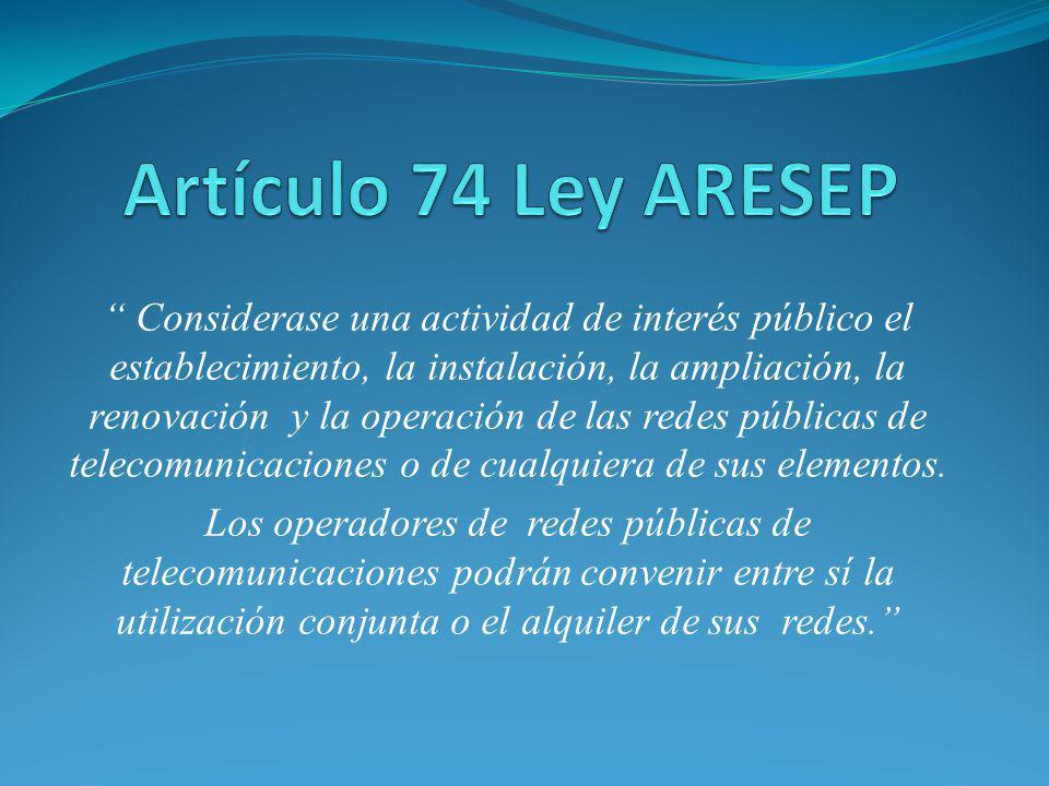 Artículo 74 Ley ARESEP